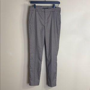 Zara woman high waist brown plaid trousers NWT